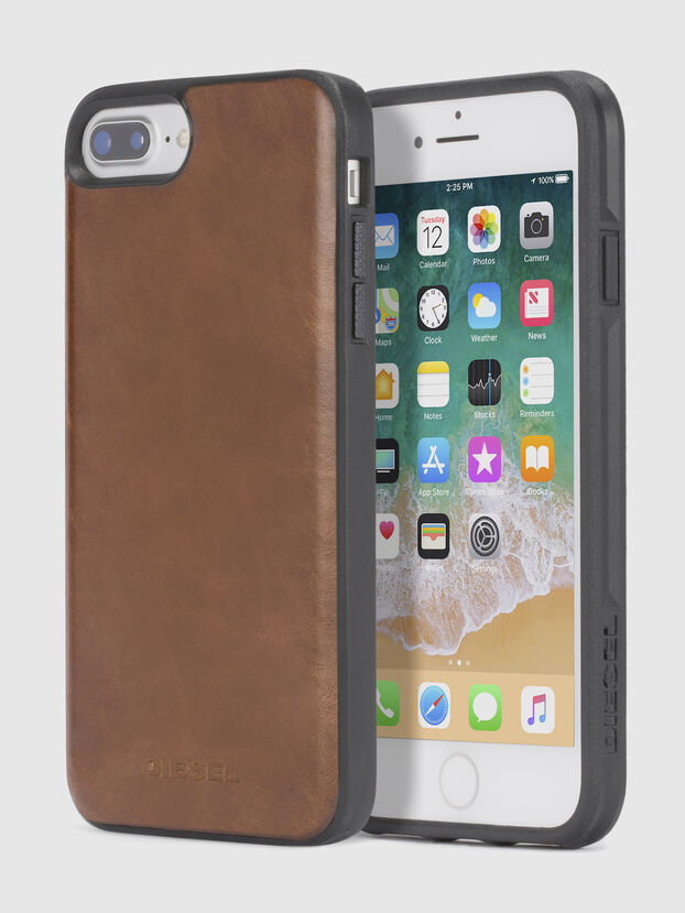 BROWN LEATHER IPHONE 8/7/6s/6 CASE, Cuir Marron - Coques