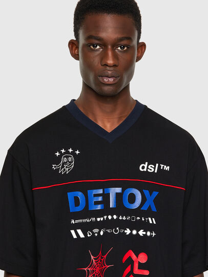 Diesel - T-DELPHIVY-SLITS, Noir - T-Shirts - Image 3