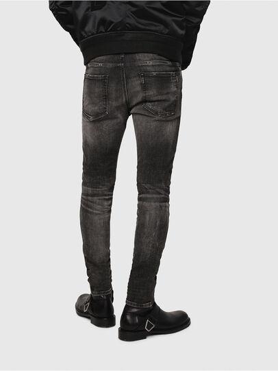 Diesel - D-Reeft JoggJeans 0077S, Noir/Gris foncé - Jeans - Image 2