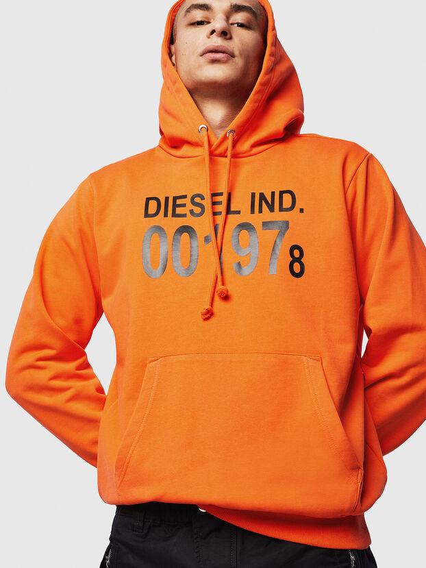 S-GIRK-HOOD, Orange - Sweatshirts