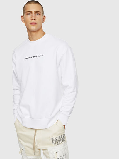 Diesel - S-BAY-COPY, Blanc - Pull Cotton - Image 1