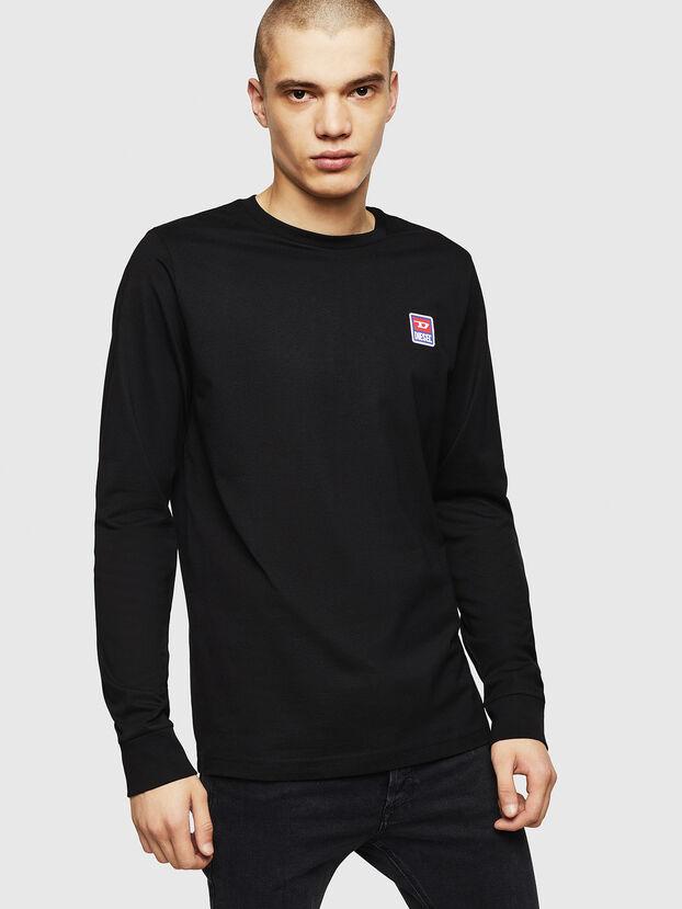 T-DIEGO-DIV-LS, Black - T-Shirts