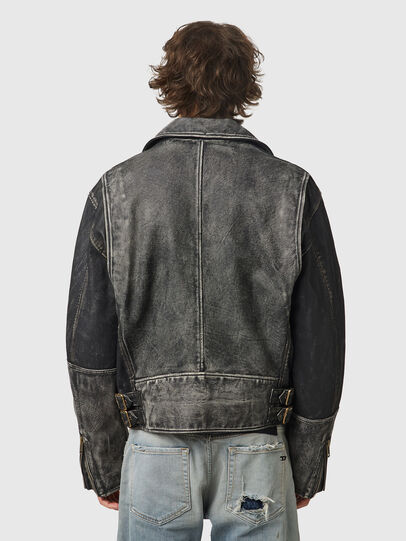 Diesel - L-CONWAY, Black - Leather jackets - Image 2