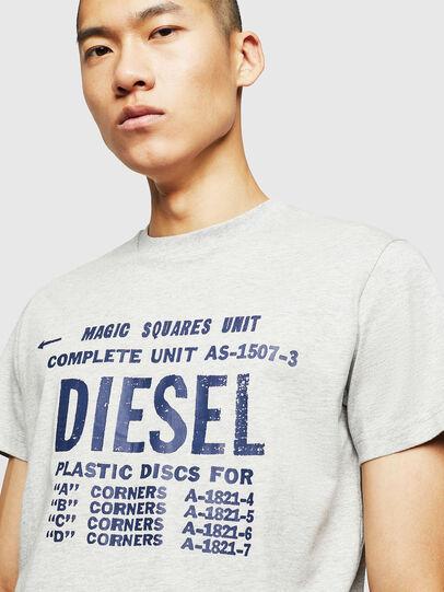 Diesel - T-DIEGO-B6, Gris Clair - T-Shirts - Image 3