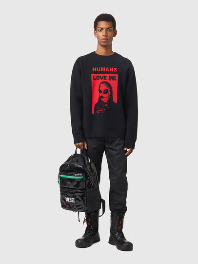 Diesel - K-NORFOLK, Black - Sweaters - Image 4