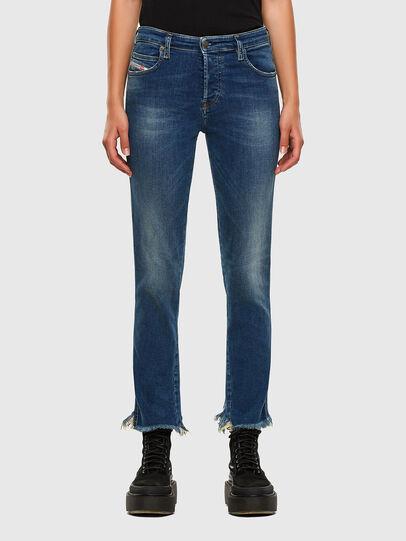Diesel - Babhila-Zip 009EZ, Bleu moyen - Jeans - Image 1
