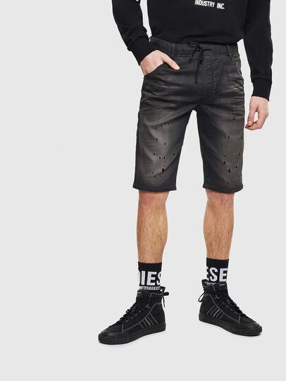 Diesel - D-KROOSHORT JOGGJEANS, Noir/Gris foncé - Shorts - Image 4