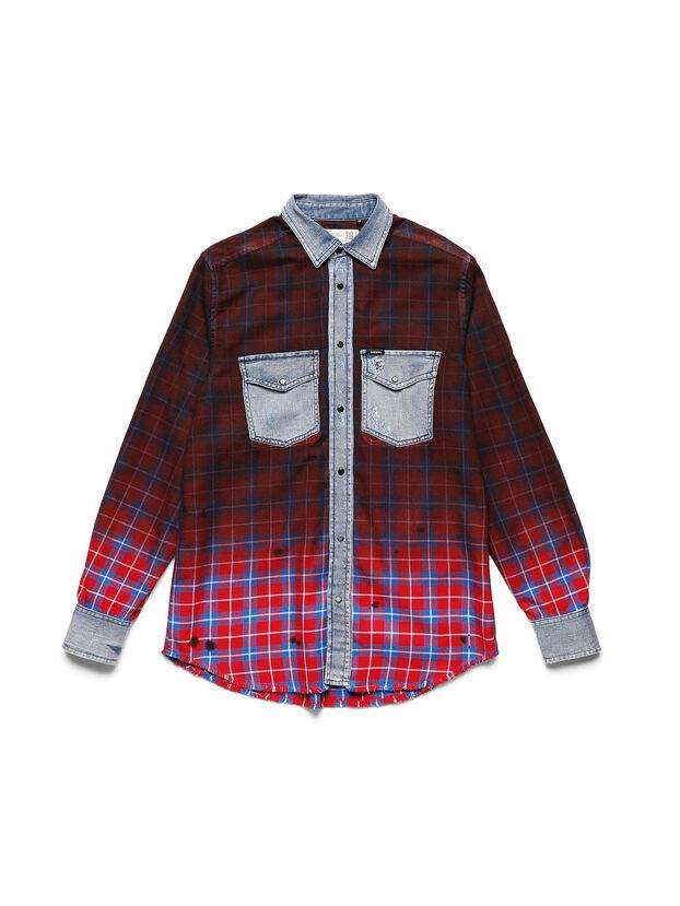 D-DEEPCHECK-B, Red - T-Shirts