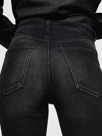 Diesel - Babhila High 0092B, Black/Dark Grey - Jeans - Image 5