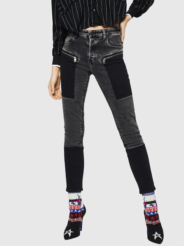 Babhila 0890T, Noir/Gris foncé - Jeans
