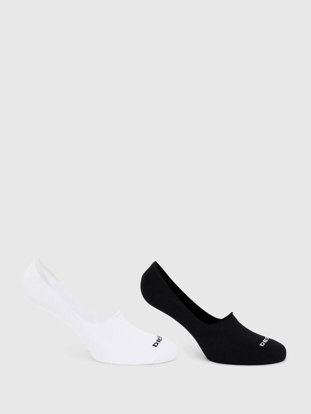 SKM-NOSHOW-TWOPACK, Blanc/Noir - Chaussettes