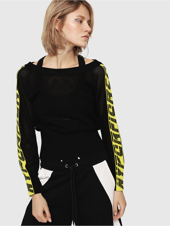 M-NANCY, Black/Yellow - Sweaters
