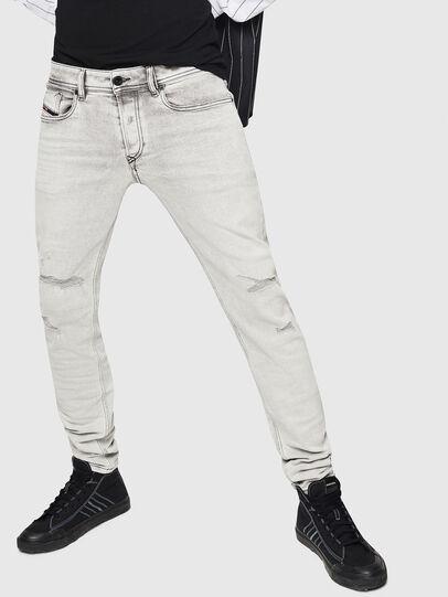 Diesel - Sleenker 0090F, Gris Clair - Jeans - Image 1
