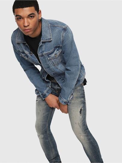 Diesel - Sleenker 069DK, Bleu moyen - Jeans - Image 4