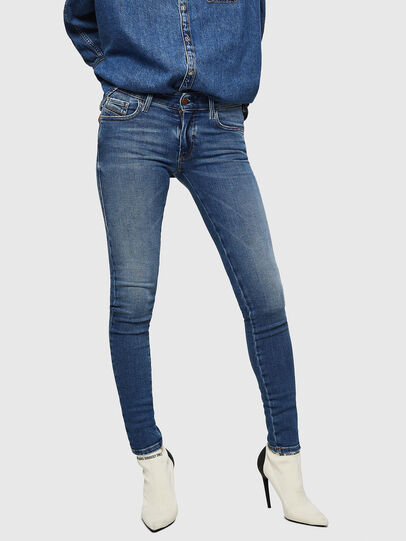 Diesel - Slandy Low 083AN, Medium Blue - Jeans - Image 1