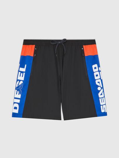 Diesel - BMBX-TUNADOO, Black/Blue - Swim shorts - Image 1