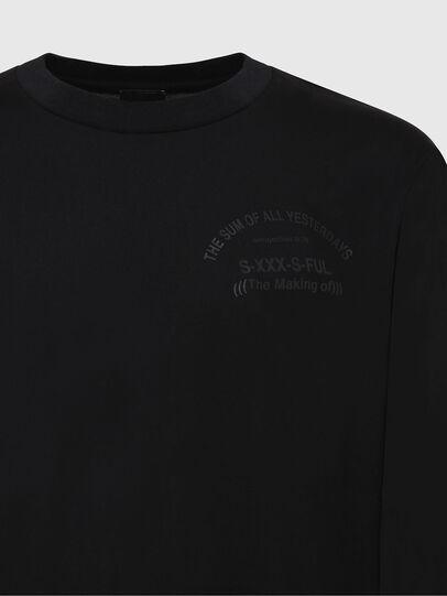 Diesel - T-JUST-LS-X91, Noir - T-Shirts - Image 3