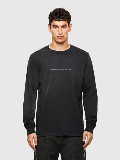 Diesel - T-JUBIND-LS, Noir - T-Shirts - Image 1