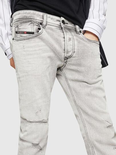 Diesel - Sleenker 0090F, Gris Clair - Jeans - Image 3