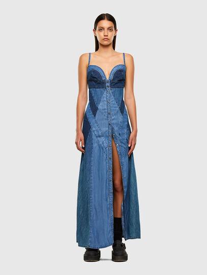 Diesel - DE-ARYNA, Bleu Clair - Robes - Image 7