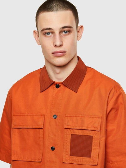 Diesel - S-GUNN, Orange - Shirts - Image 3