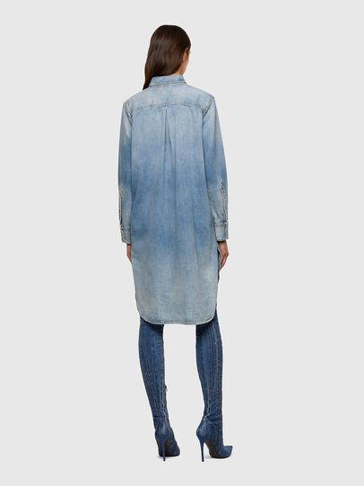 Diesel - DE-BLANCHE, Bleu Clair - Robes - Image 2