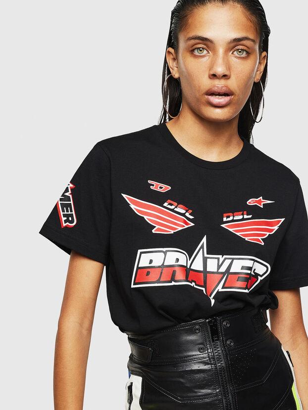 ASTARS-T-DIEGO-FL, Noir - T-Shirts