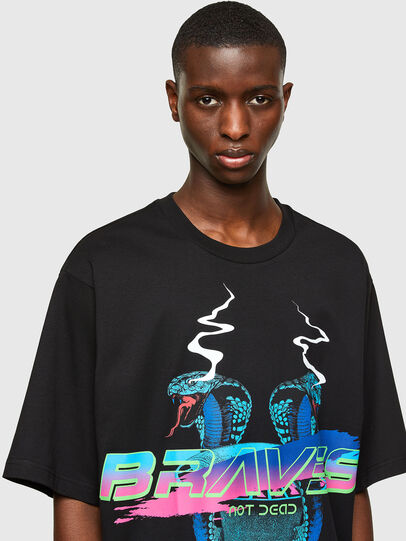 Diesel - T-DELPHI-E1, Noir - T-Shirts - Image 3