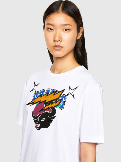 Diesel - CL-T-JUST-O1, Blanc - T-Shirts - Image 6