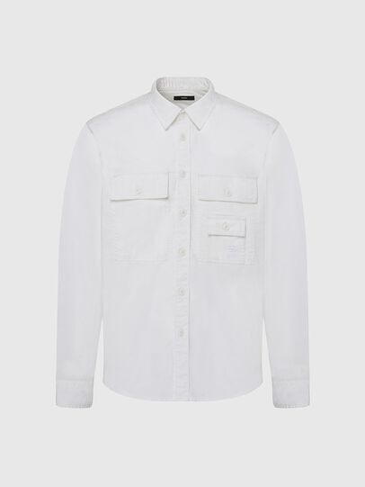 Diesel - S-ALLEN-KA, Blanc - Chemises - Image 1