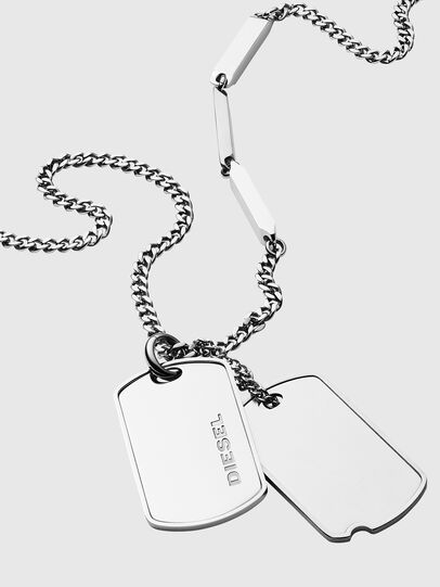 Diesel - DX1173, Silver - Necklaces - Image 2