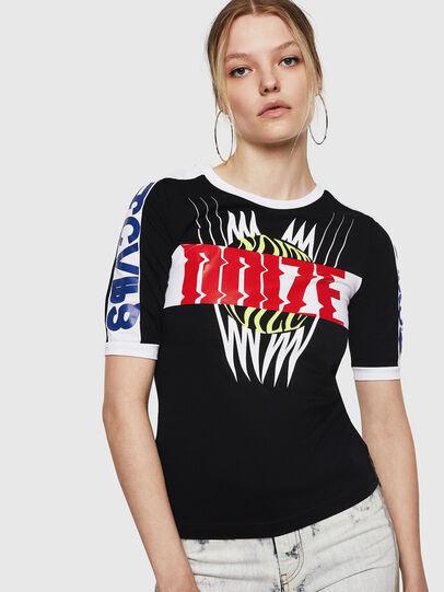Diesel - T-HEIA-A, Noir - T-Shirts - Image 1