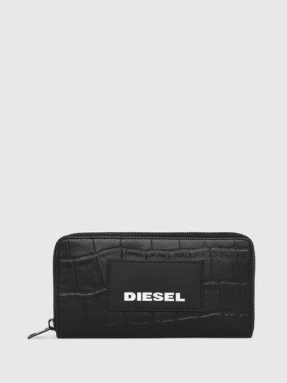 Diesel - 24 ZIP, Noir - Portefeuilles Zippés - Image 1
