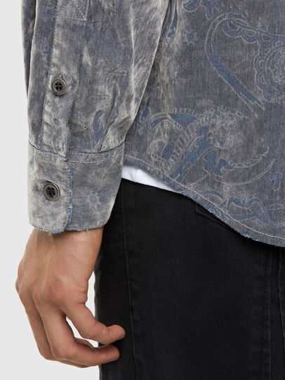 Diesel - D-RONNY, Grey - Denim Shirts - Image 3