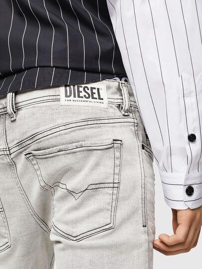 Diesel - Sleenker 0090F, Gris Clair - Jeans - Image 5