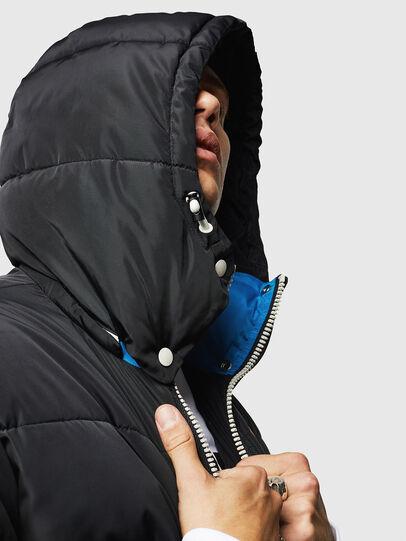 Diesel - W-MARTOS, Noir/Bleu - Vestes d'hiver - Image 3