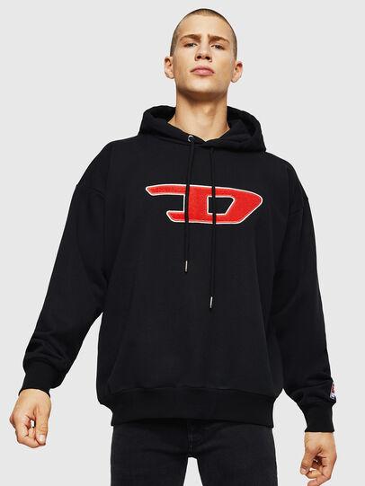 Diesel - S-DIVISION-D, Black - Sweatshirts - Image 1