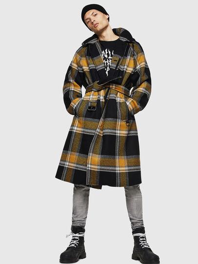 Diesel - W-STAL, Yellow Ocher - Winter Jackets - Image 6
