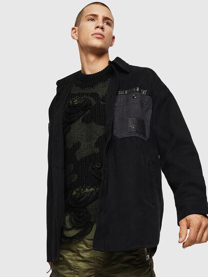 Diesel - S-LEBED, Noir - Chemises - Image 4