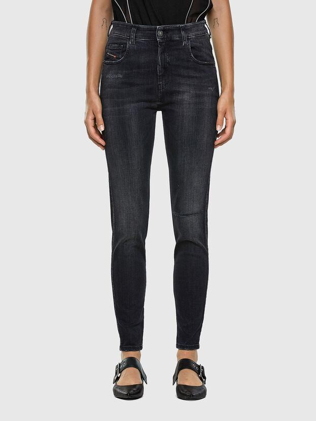 Slandy High 069RL, Noir/Gris foncé - Jeans