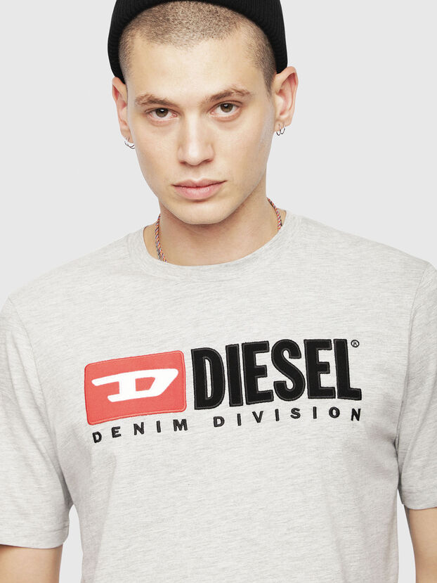 T-JUST-DIVISION, Gris Clair - T-Shirts