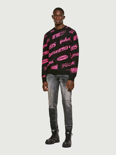 Diesel - K-NICKEL, Black/Pink - Sweaters - Image 5