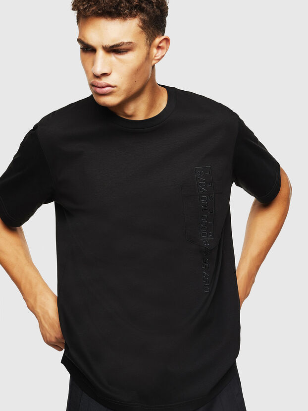 T-JUST-POCKET-J1, Noir - T-Shirts