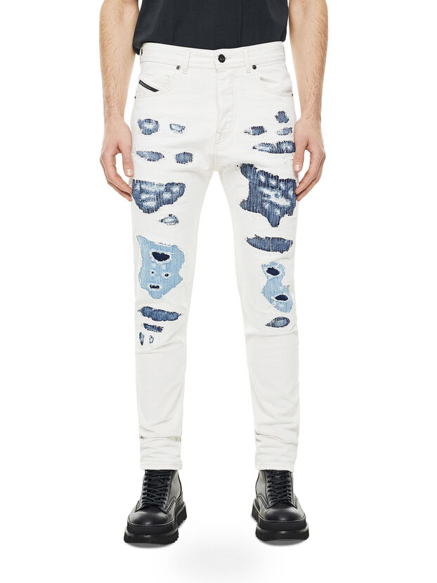 TYPE-2880, White/Blue - Jeans