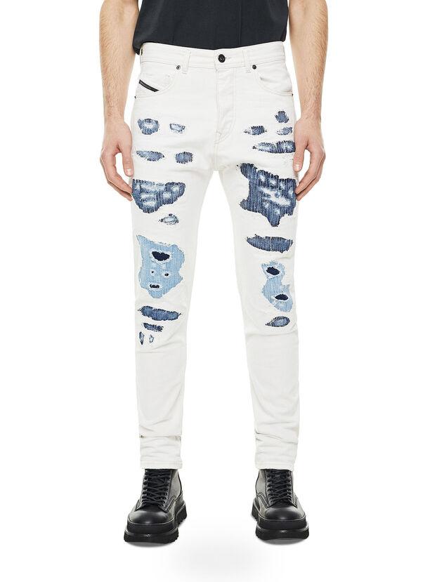 TYPE-2880, Blanc/Bleu - Jeans
