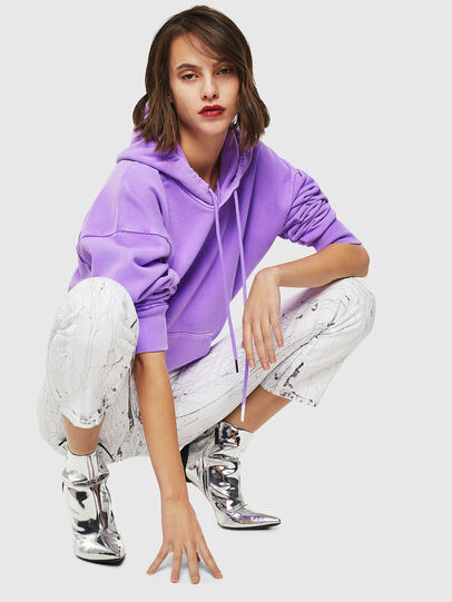 Diesel - S-ALBY-FLUO, Lilas - Pull Cotton - Image 5