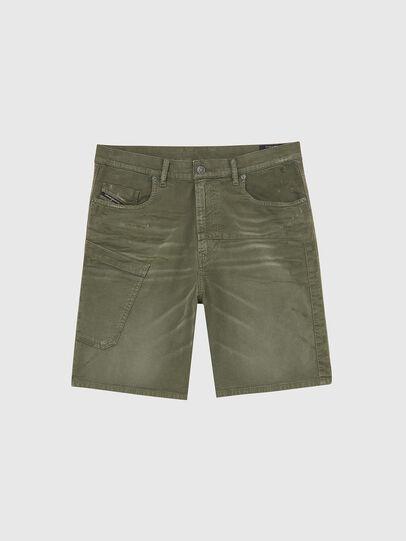 Diesel - D-AZERR-SHORT JOGGJEANS, Vert Militaire - Shorts - Image 1