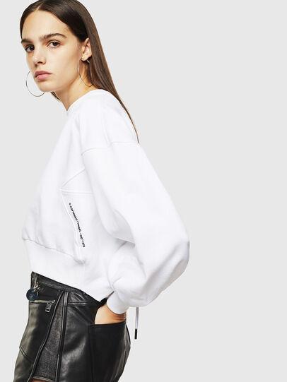 Diesel - F-MONDY, Blanc - Pull Cotton - Image 3