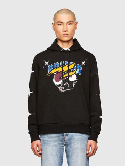 Diesel - CL-S-GIRK-HOOD-O1, Black - Sweatshirts - Image 1