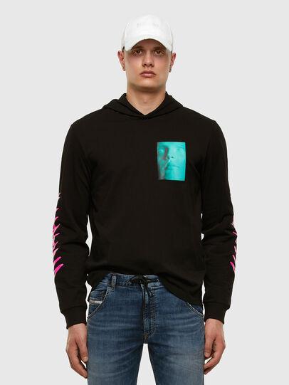 Diesel - T-JUST-LS-HOOD-X30, Noir - T-Shirts - Image 6